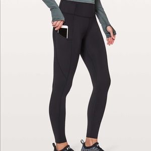 """Lululemon Fast and Free 25"""" Tights (nonreflective)"""